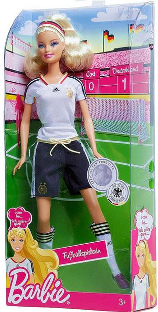Кукла Барби футболистка к чемпионату мира среди женщин футбол в Германии