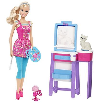 Кукла Барби Я Могу Стать преподаватель живописи