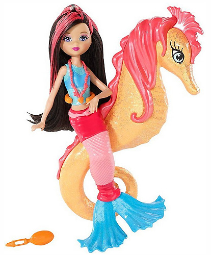 кукла Барби приключение русалки морской конек