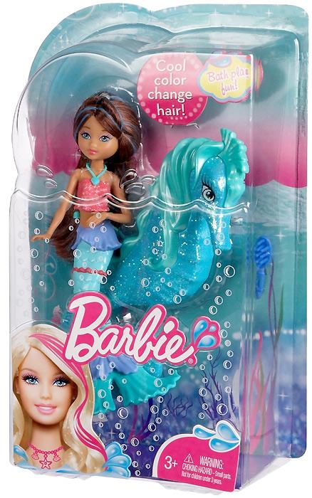кукла барби приключение русалки с морским коньком упаковка