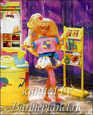 наклейка Барби Панини Panini 90-е кукла Скиппер