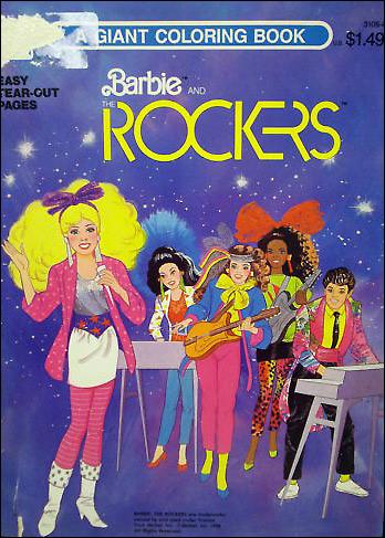 книжка раскраска Барби и Рокеры