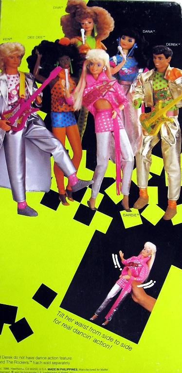 куклы 80-х Barbie and the Rockers с движущимися руками