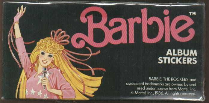 наклейки Барби