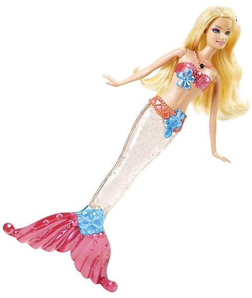 Кукла Барби русалка со светящимся хвостом