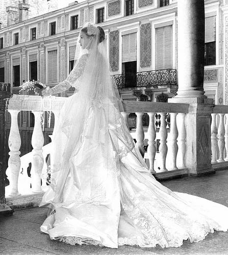 Фото свадьбы Грейс Келли - свадебное платье