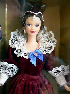 коллекционная кукла валентинка Барби