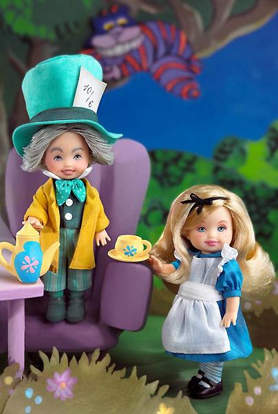 куклы Алиса в Стране Чудес и Безумный Шляпник