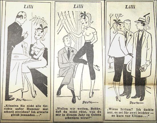 Комиксы Билд Лилли из газеты Bild Zeitung