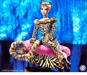 Коллекционная кукла Барби Lounge Kitties Leopard