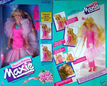 кукла 80-х Maxie с растущими волосами