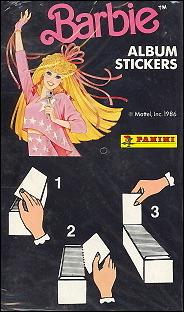 наклейки Барби Панини Panini для журнала с наклейками