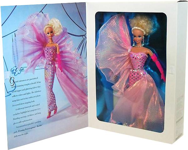 фото кукла Барби блондинка в розовом