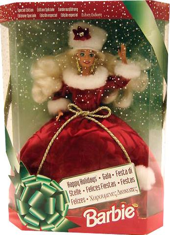 коллекционная кукла Барби Happy Holidays Barbie 1994