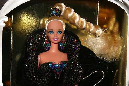 фото Барби коллекционная кукла блондинка с косой