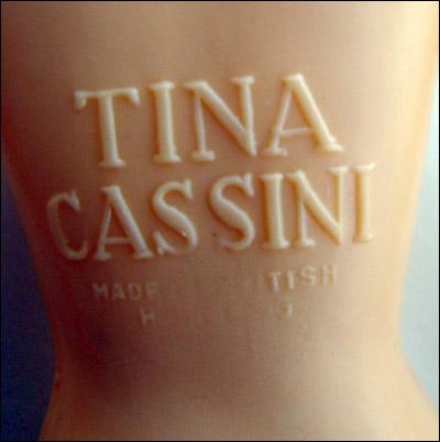 Винтажная кукла клеймо - Тина Кассини