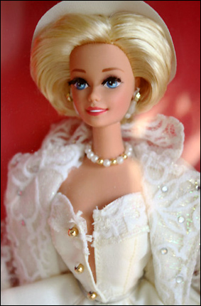 фото Барби коллекционная кукла блондинка