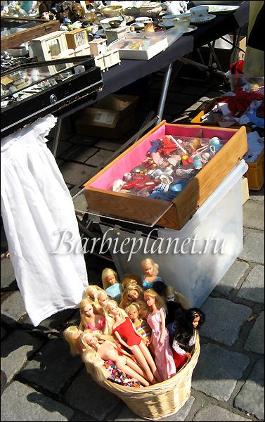 винтажные куклы Барби на блошином рынке в Германии