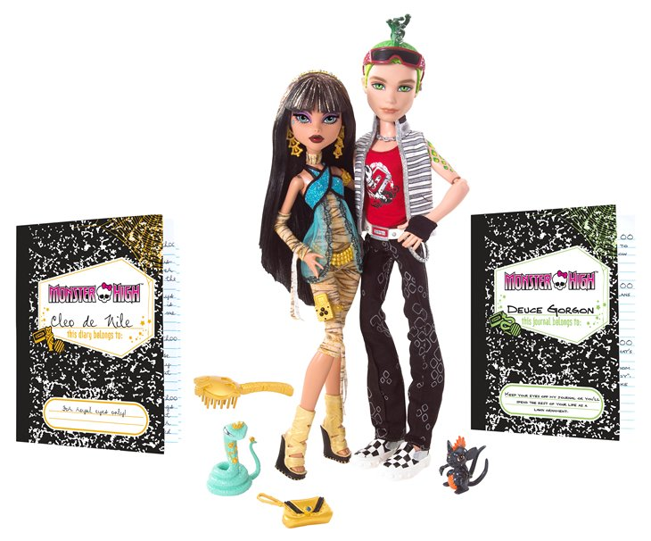 Куклы Monster High Cleo de Nile Deuce Gorgon