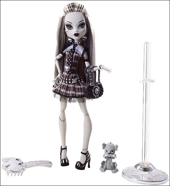 Коллекционная кукла Frankie Stein Monster High черно белая