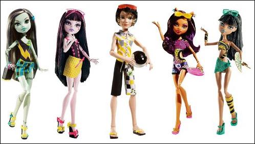 шарнирные куклы Monster High Gloom Beach