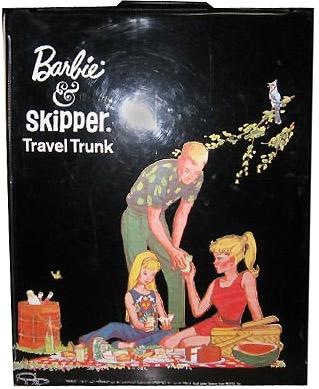 Фото Барби виниловая переноска Барби Кен Скиппер