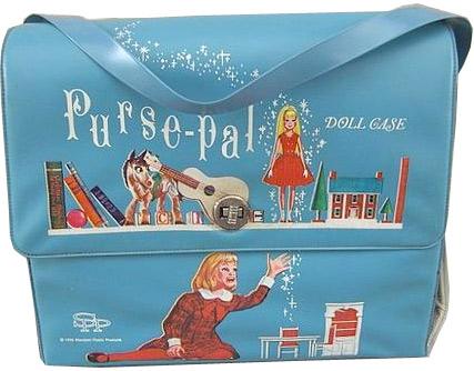 винтажный портфель с принтами Skipper