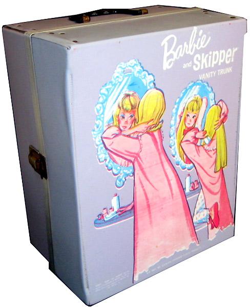 косметический уголок винтажный чемоданчик Barbie