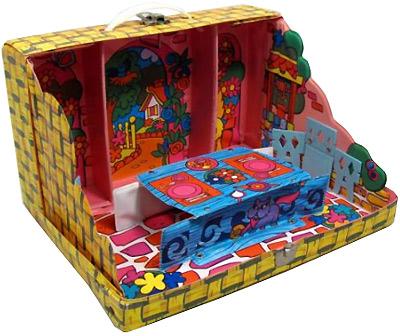 раскладной дом для кукол винтаж