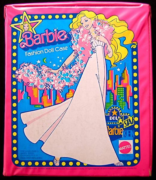 переноска Барби 1977 розовая