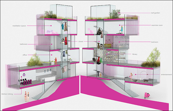 До 1 августа идет голосование за лучший проект дома для Барби