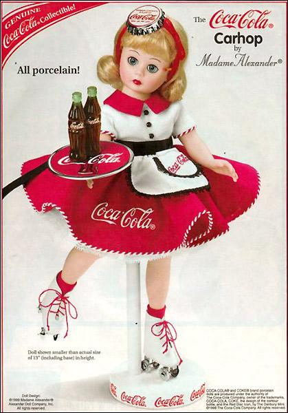 Коллекционная кукла Madame Alexander Coca Cola Carhop
