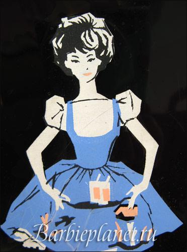 графика рисунок Барби 1960-е