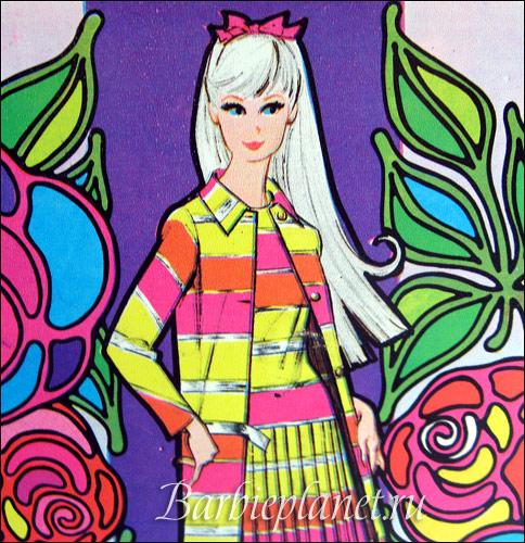 графика рисунок Барби 1960-е mod