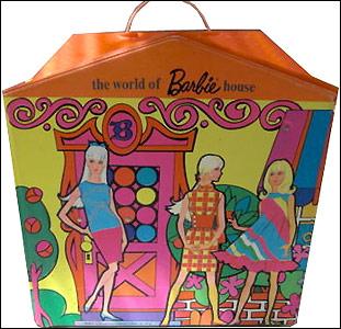 раскладной дом для Барби винтаж