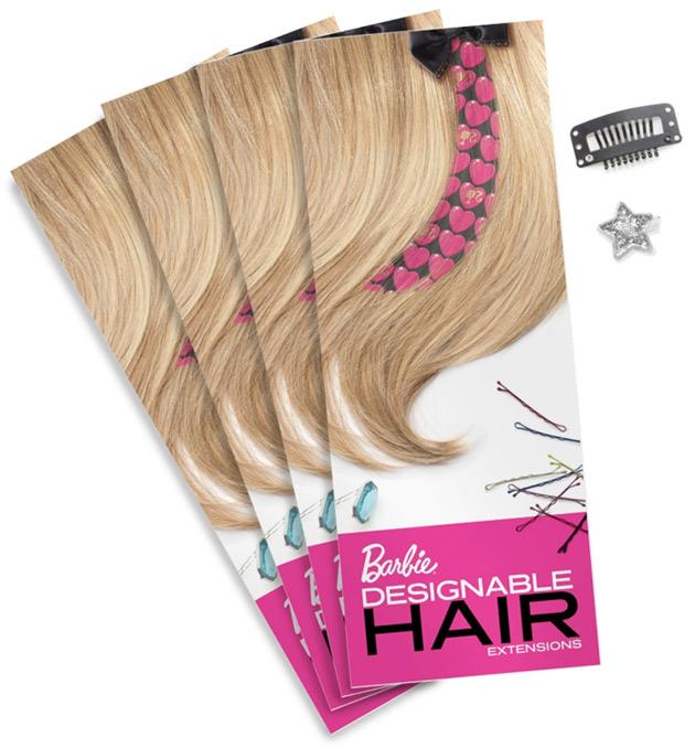 Дополнительные наборы накладок для волос Барби Designable Hair Barbie