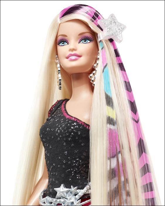 Фото Барби волосы печать на принтере Designable Hair Barbie