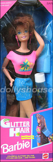 Рыжая кукла Барби с длинными волосами Glitter Hair Barbie