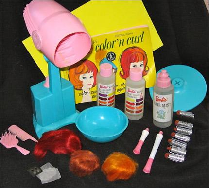 Набор париков для Барби, волосы меняющие цвет