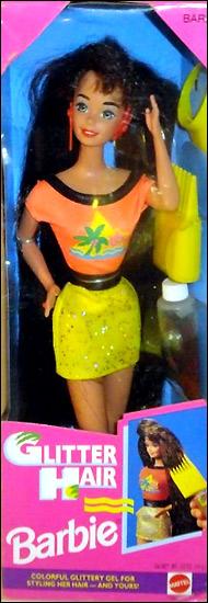 Брюнетка Барби с длинными волосами Glitter Hair Barbie