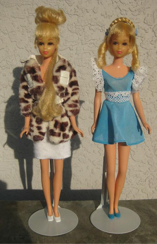 Винтажные куклы Happenin Hair Francie и Hair Growin Francie