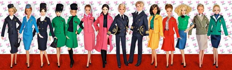 Куклы Барби примерили форму стюардесс Alitalia в Риме