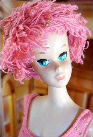 Винтажная кукла Барби со сменными париками и закрывающимися глазами Miss Barbie