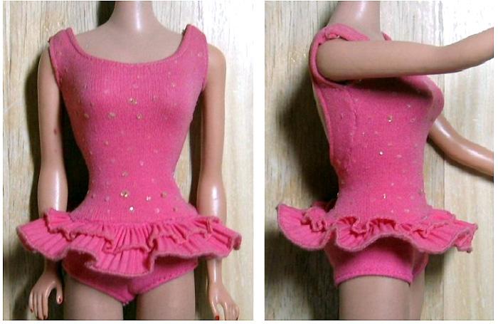Розовый купальник Барби винтаж