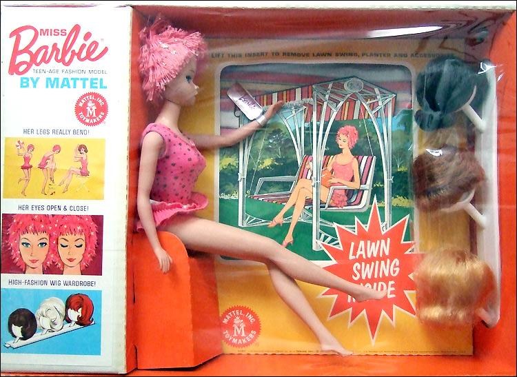 Фото редкой куклы Барби винтажной с закрывающимися глазами