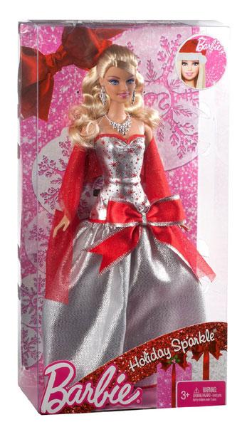 Новогодняя кукла Барби Holiday Sparkle Barbie