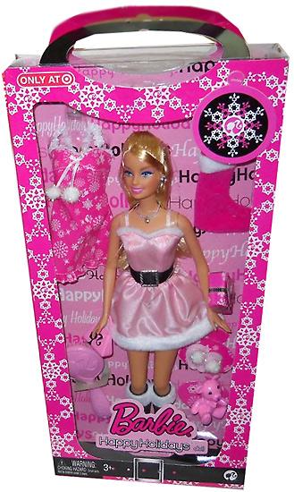 Фото куклы Барби Happy Holidays Target новогодняя