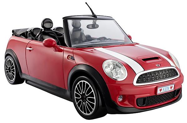 Модель Мини Купер Mini Cooper для кукол Кена и Барби