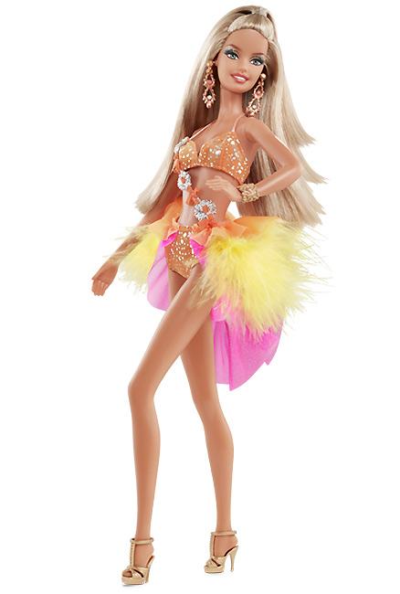 Коллекционная кукла Барби танцы со звездами Самба