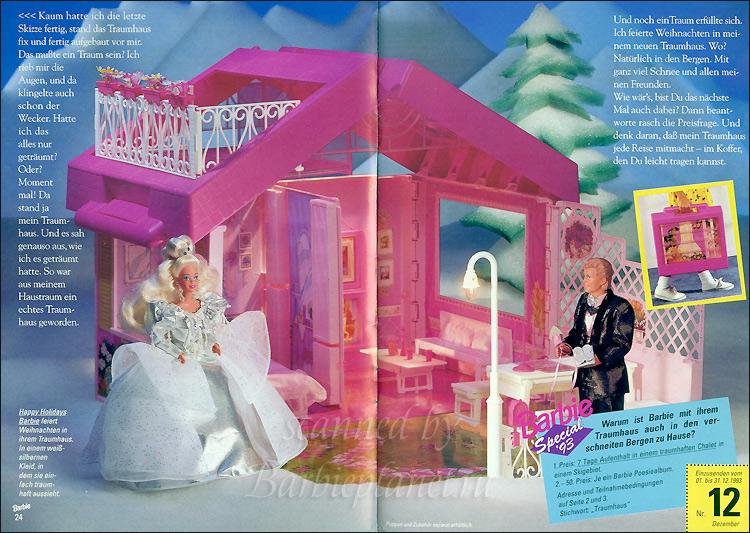 Раскладной домик для Барби, кукла Барби и Кен